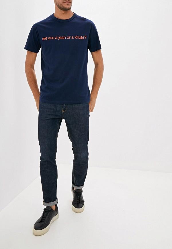 Фото 2 - мужскую футболку Gap синего цвета