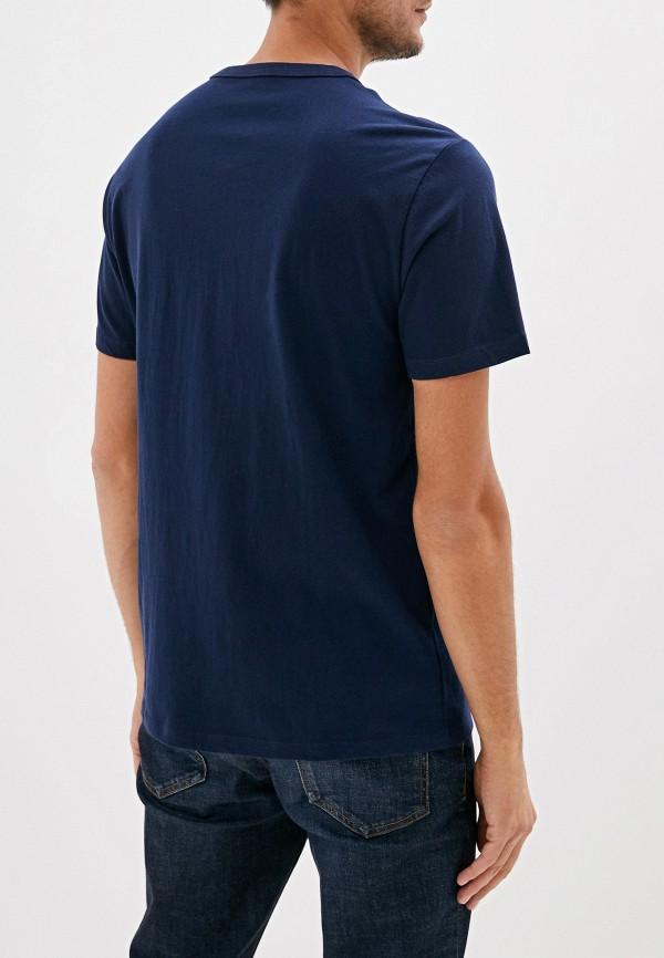 Фото 3 - мужскую футболку Gap синего цвета