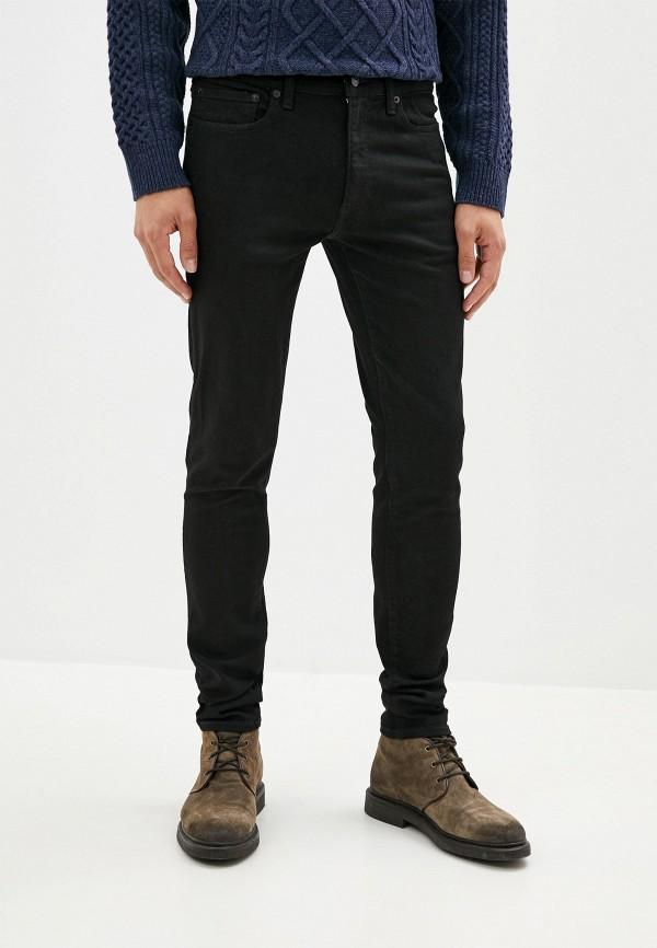 мужские зауженные джинсы gap, черные