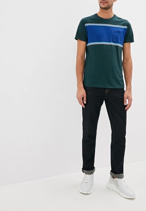 Фото 2 - мужскую футболку Gap зеленого цвета