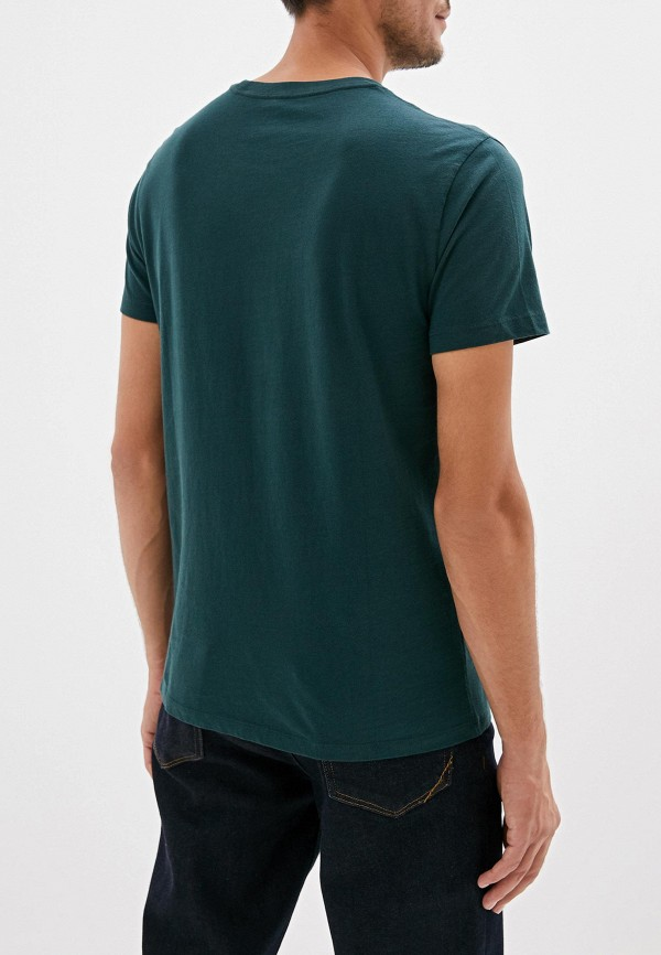 Фото 3 - мужскую футболку Gap зеленого цвета