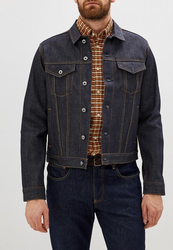 мужская джинсовые куртка gap, синяя