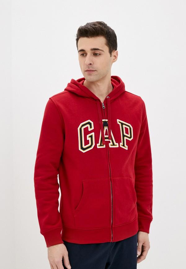 мужская толстовка gap, красная