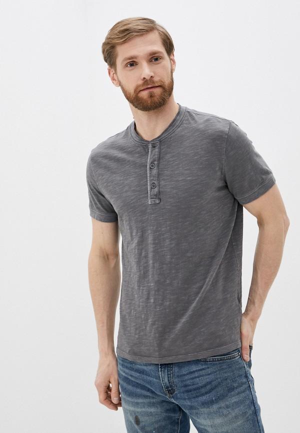 мужская футболка с коротким рукавом gap, серая