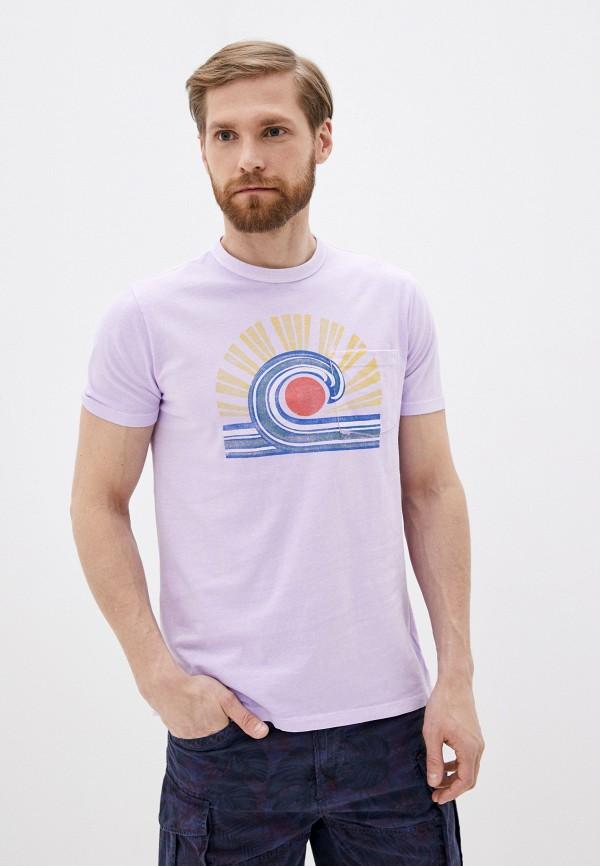 мужская футболка с коротким рукавом gap, фиолетовая