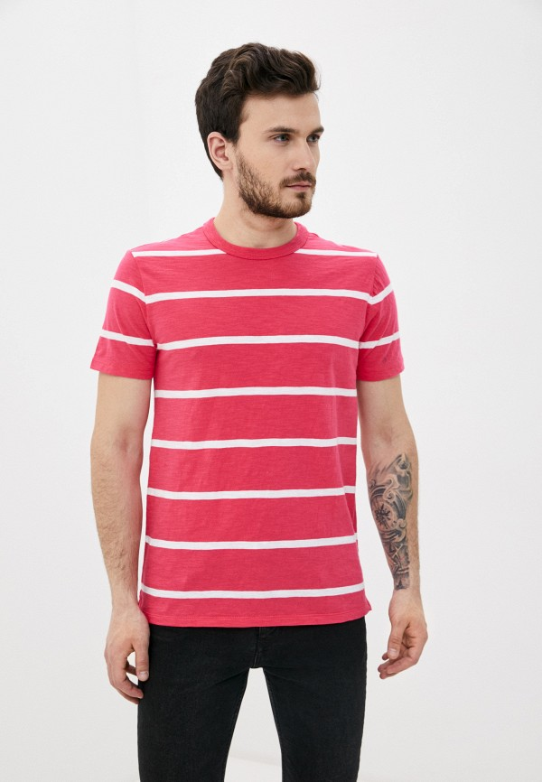 мужская футболка с коротким рукавом gap, розовая