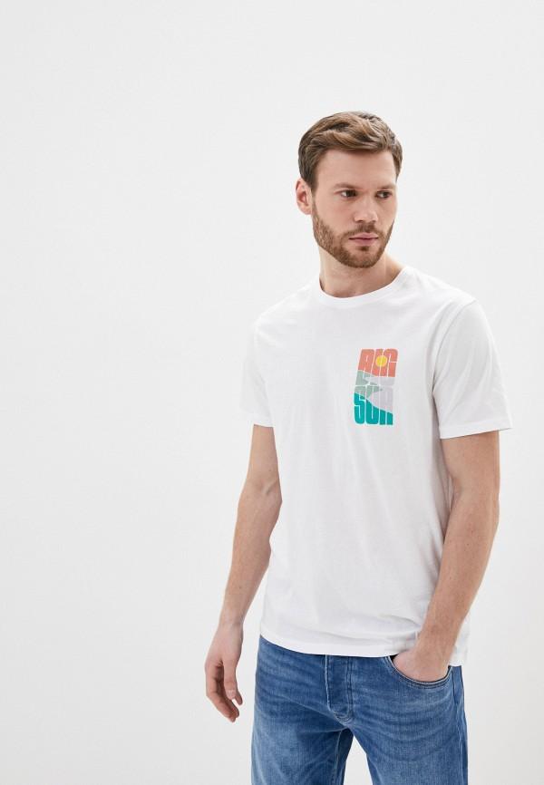 мужская футболка с коротким рукавом gap, белая