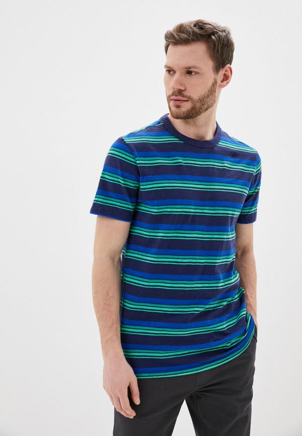 мужская футболка с коротким рукавом gap, синяя