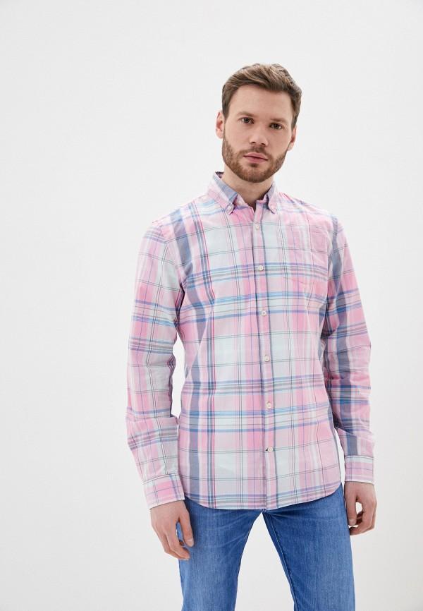 мужская рубашка с длинным рукавом gap, розовая