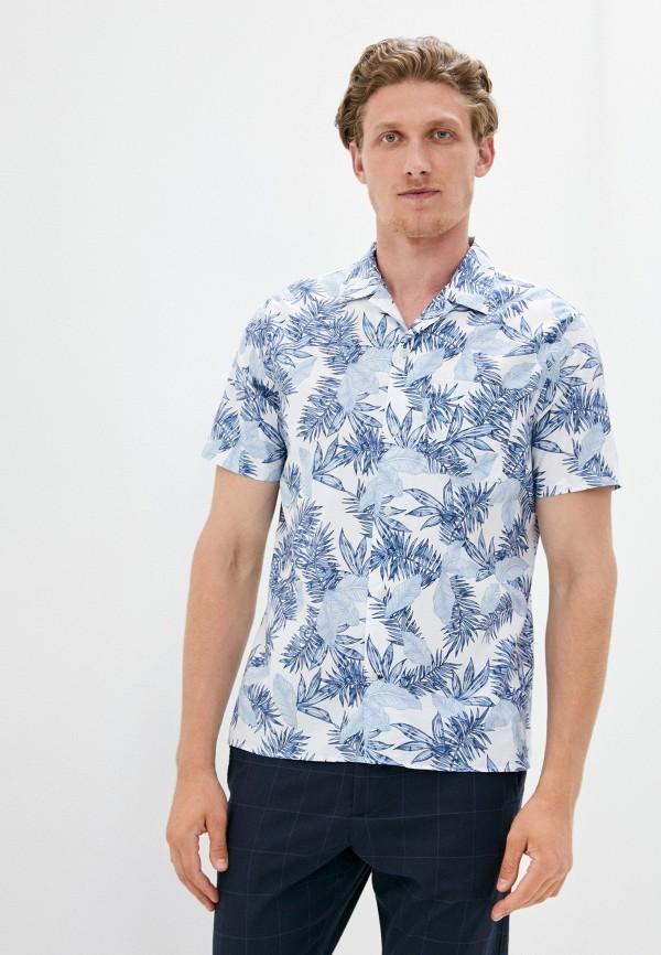 мужская рубашка с коротким рукавом gap, голубая