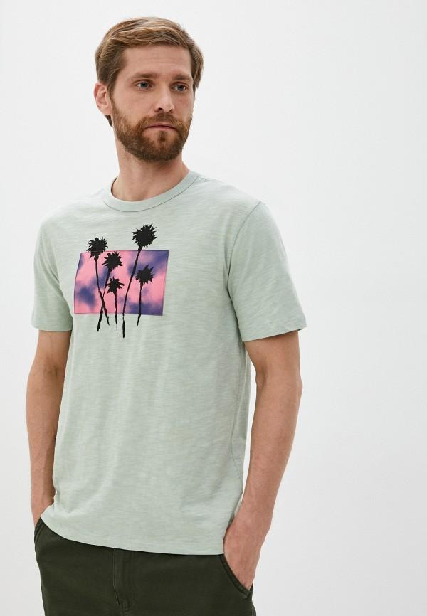 мужская футболка gap, зеленая