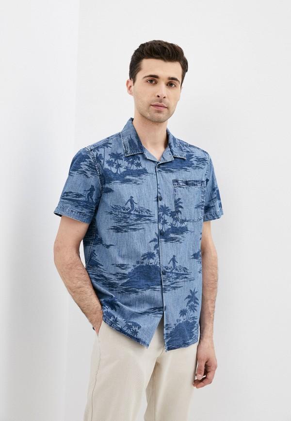 мужская джинсовые рубашка gap, синяя