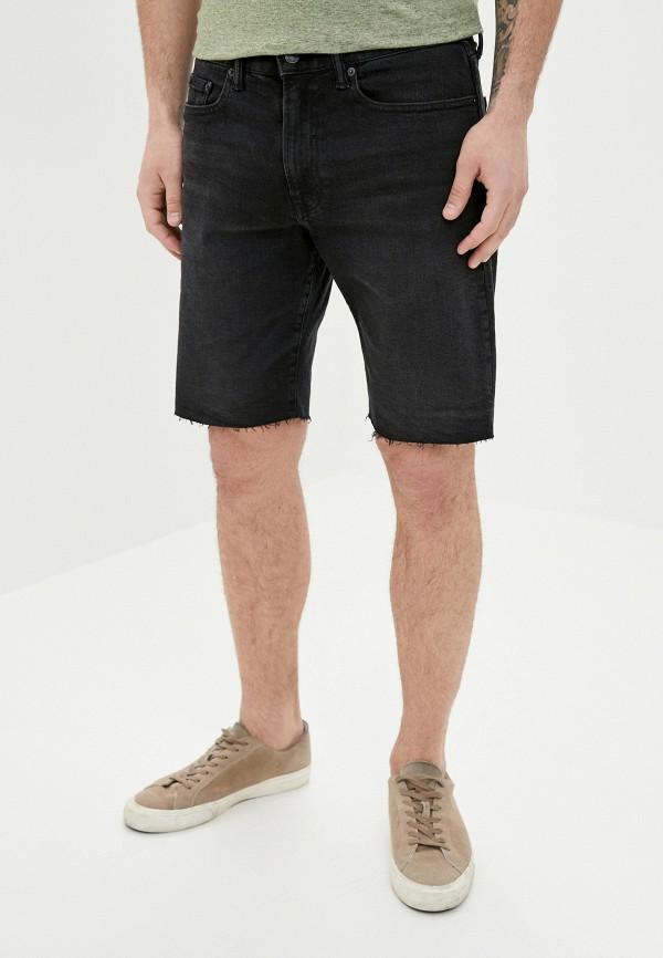 мужские джинсовые шорты gap, черные