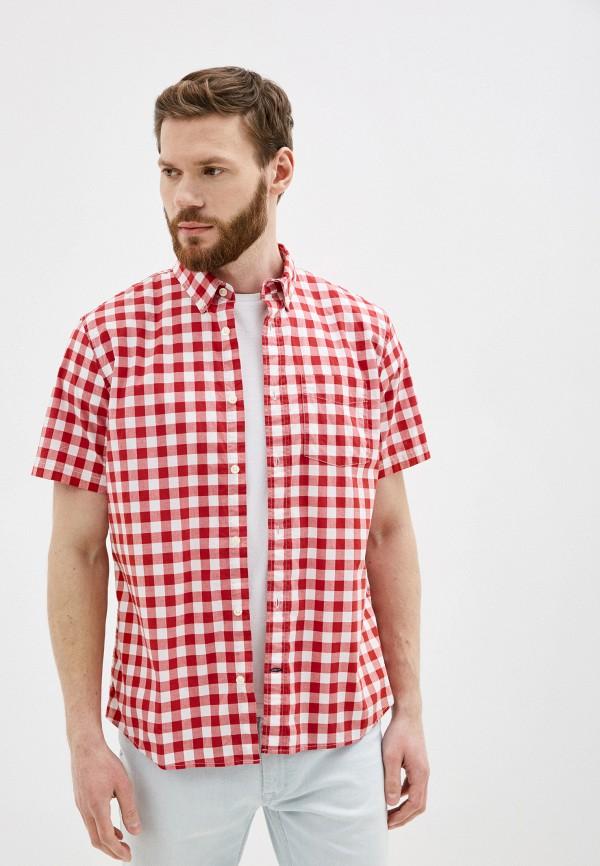 мужская рубашка с коротким рукавом gap, красная