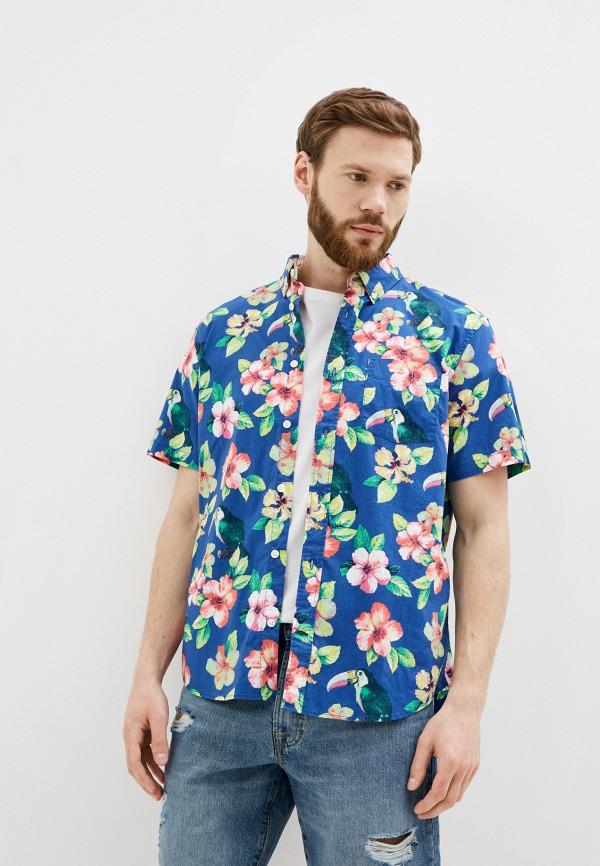 мужская рубашка с коротким рукавом gap, разноцветная