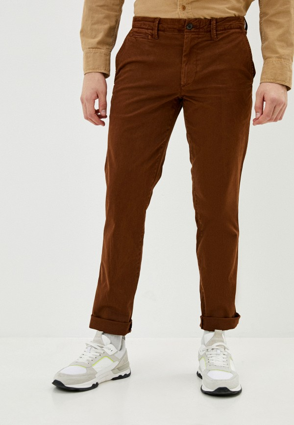 мужские брюки чинос gap, коричневые
