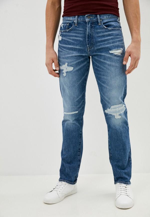 мужские зауженные джинсы gap, голубые