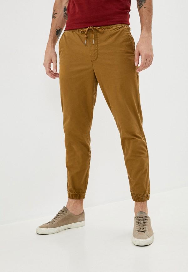 мужские брюки джоггеры gap, коричневые