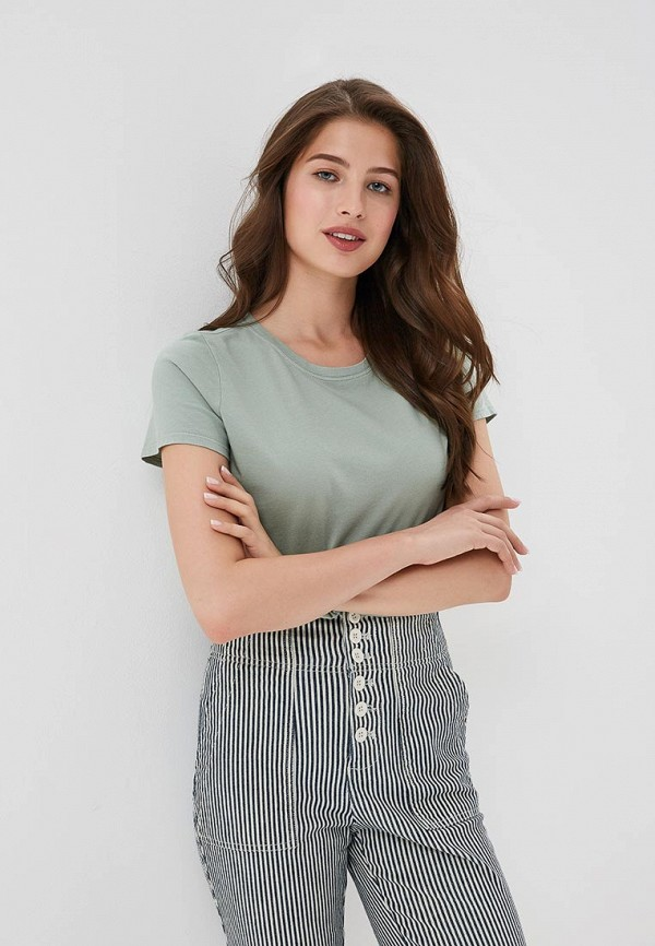 Фото 2 - женскую футболку Gap зеленого цвета