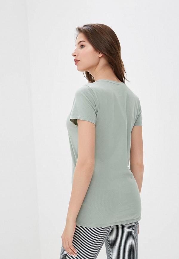 Фото 7 - женскую футболку Gap зеленого цвета