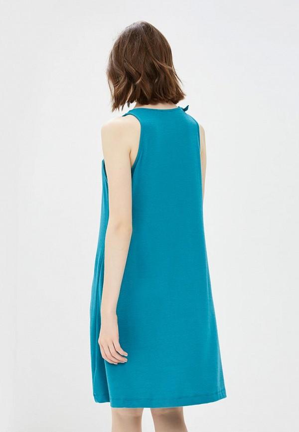 Фото 3 - женское платье Gap бирюзового цвета