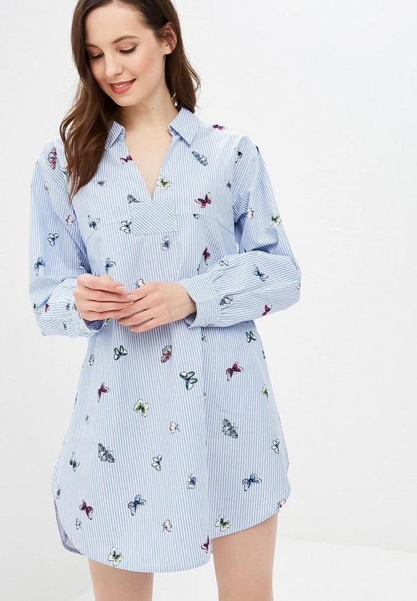 женские сорочка ночная gap, голубые