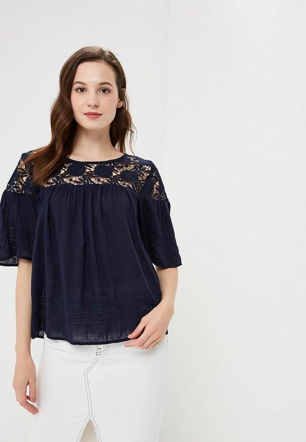 Купить Блуза Gap, GA020EWCGDJ5, синий, Осень-зима 2018/2019