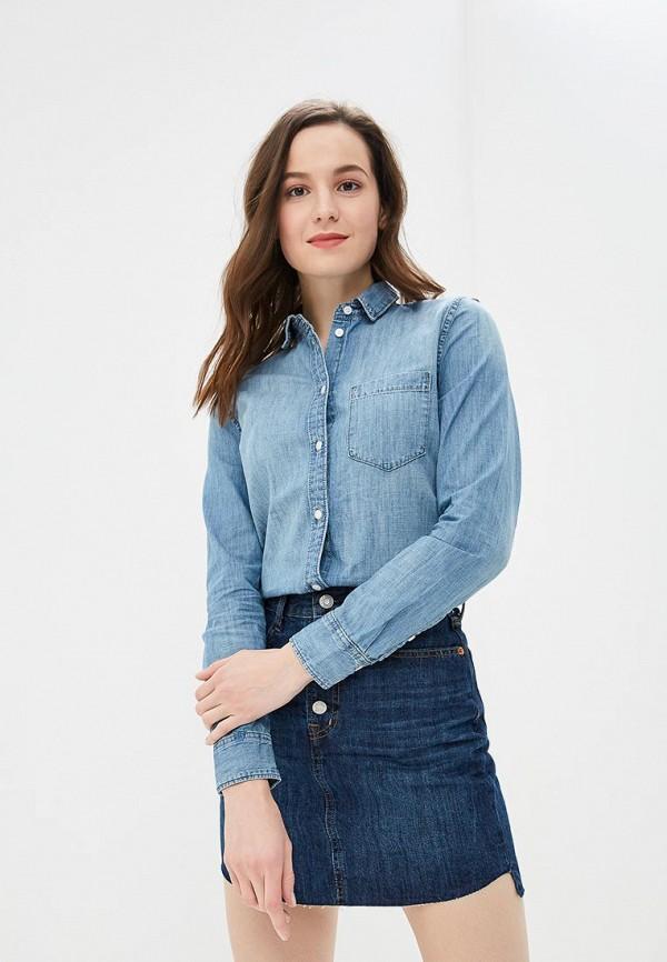 26cd8ba935f Женская голубая осенняя джинсовая рубашка GAP