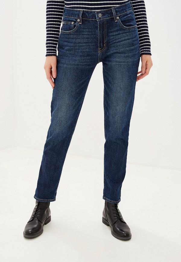 женские прямые джинсы gap, синие