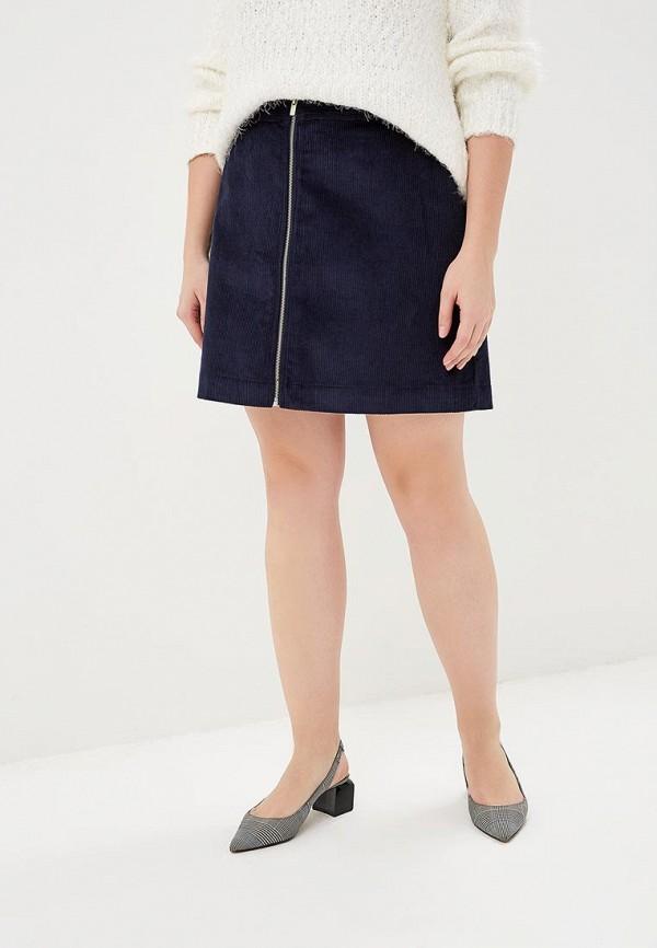 женская прямые юбка gap, синяя