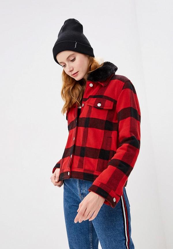 Куртка утепленная Gap, ga020ewcvgw8, красный, Осень-зима 2018/2019  - купить со скидкой