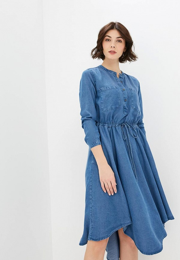 Голубое осеннее платье GAP