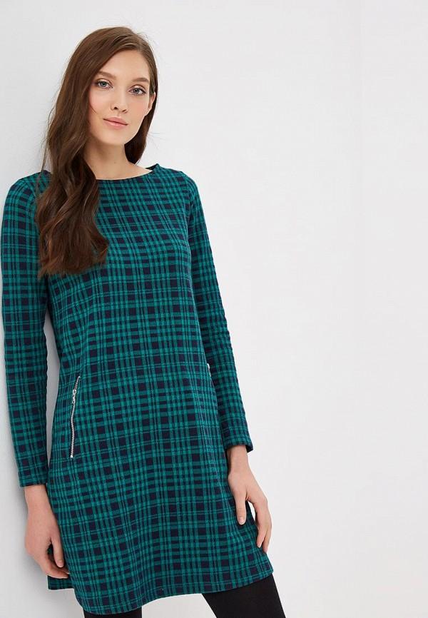 Бирюзовое осеннее платье