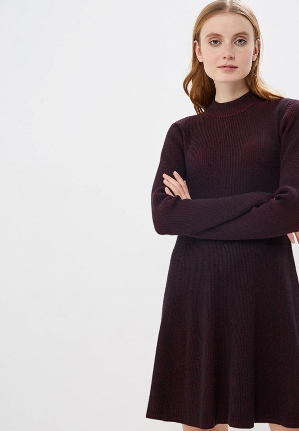 женское платье gap, бордовое