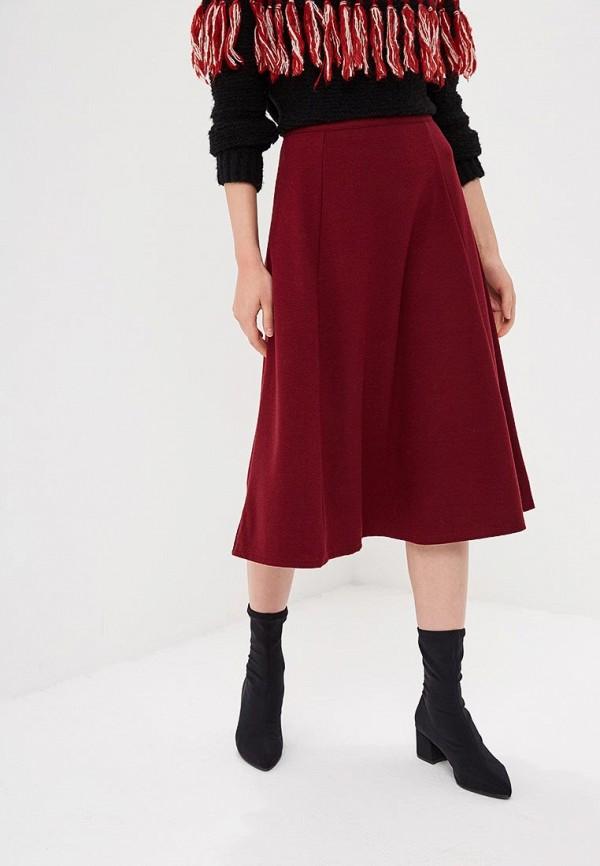женская юбка gap, бордовая