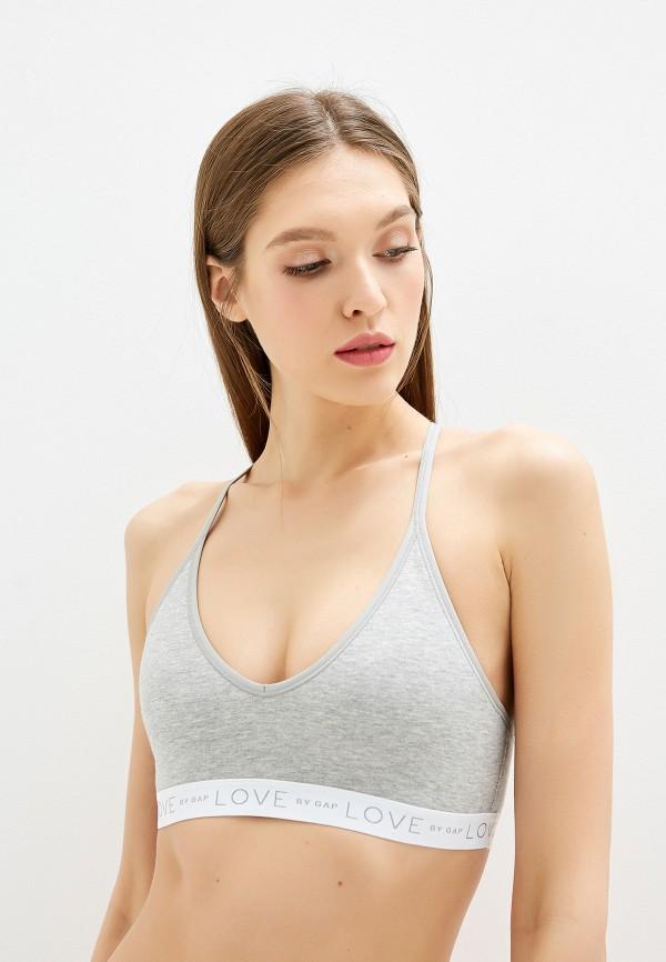 женский бюстгальтер gap, серый