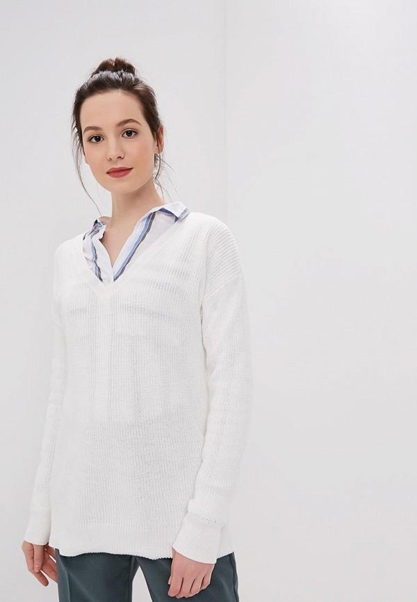 женский пуловер gap, белый