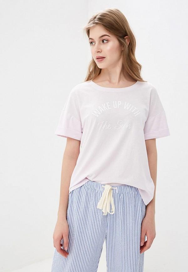 женская футболка gap, розовая