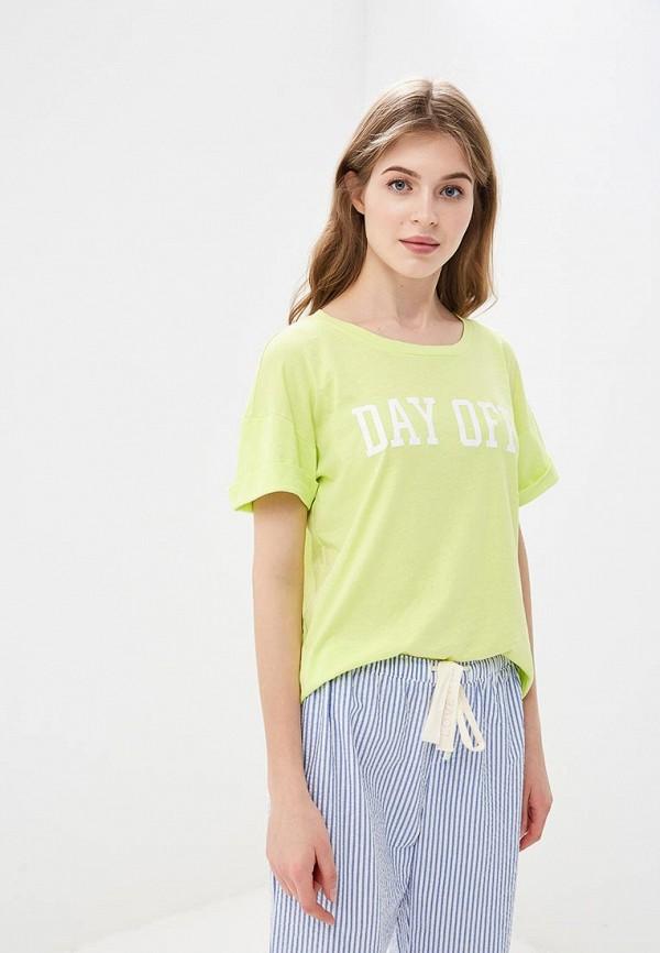 женская футболка gap, зеленая