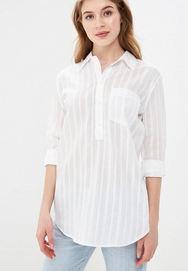 женская рубашка с длинным рукавом gap, белая