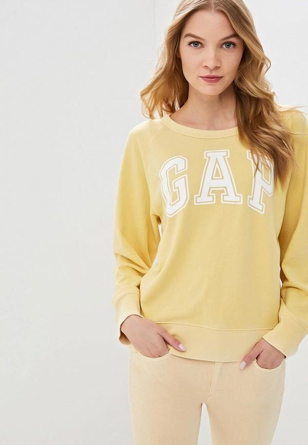 Купить Свитшот Gap, ga020eweghd6, желтый, Весна-лето 2019