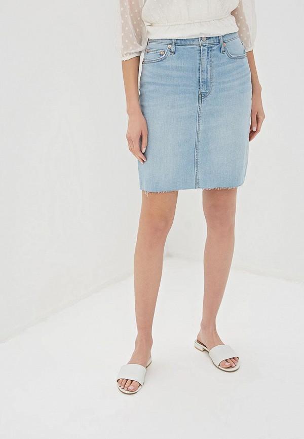 цена Юбка джинсовая Gap Gap GA020EWEGHT1 онлайн в 2017 году