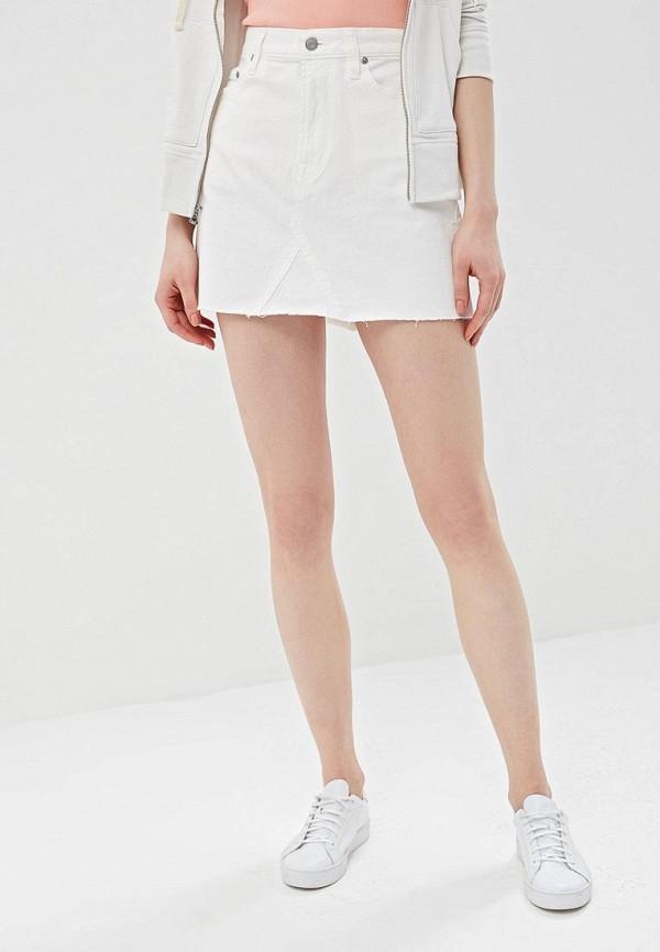 женская джинсовые юбка gap, белая