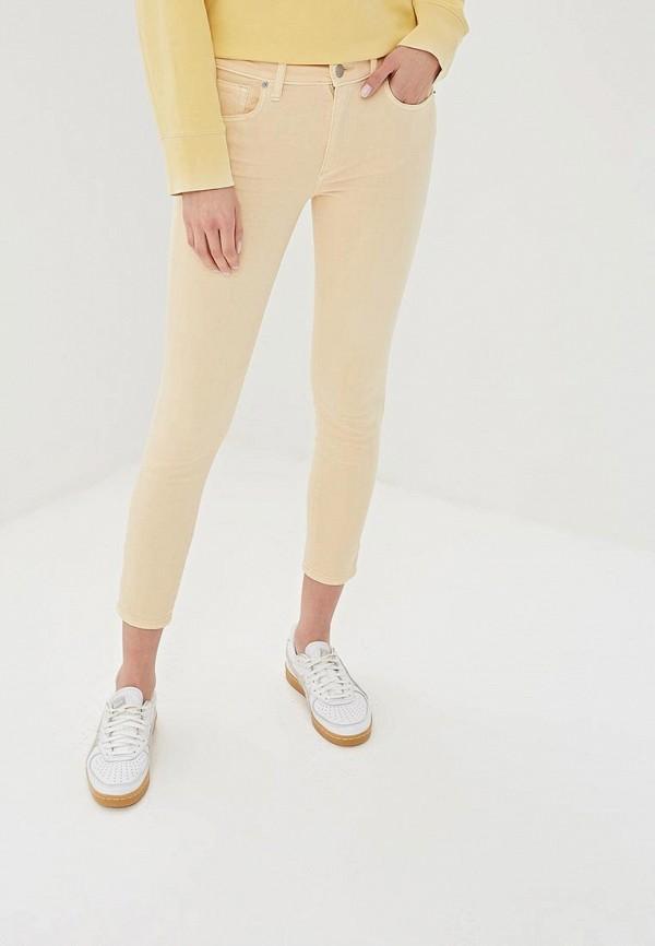 женские повседневные брюки gap, желтые