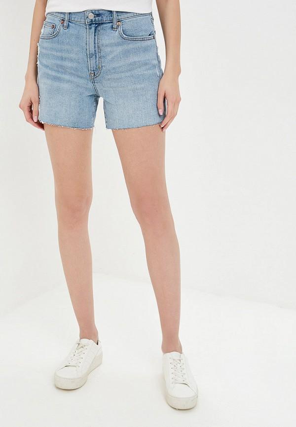 женские джинсовые шорты gap, голубые