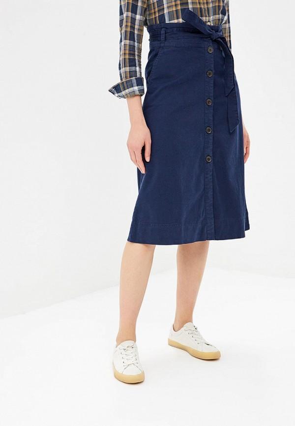 Фото - женскую юбку Gap синего цвета