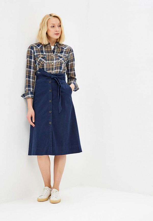 Фото 2 - женскую юбку Gap синего цвета
