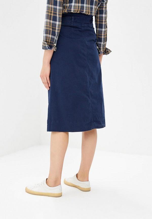 Фото 3 - женскую юбку Gap синего цвета