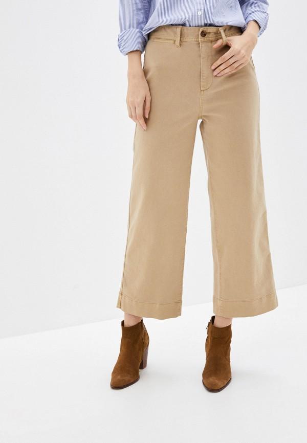 женские повседневные брюки gap, бежевые