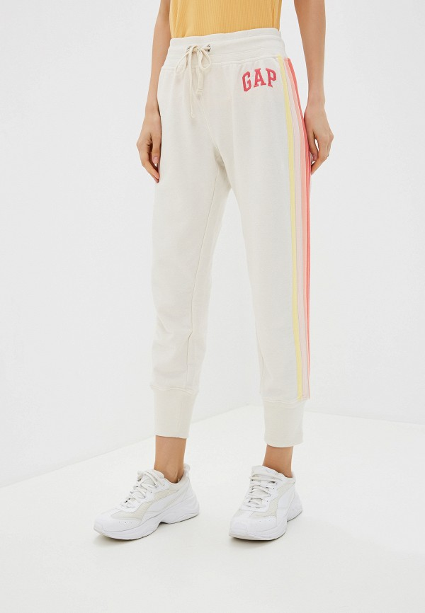 женские спортивные брюки gap, бежевые